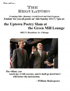 Regulators flyer 10-17 2010 poetry slam flyer