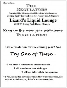 Regulators flyer jan 2nd 2012